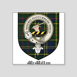 "McMillan Clan Crest Tartan Square Sticker 3"" x 3"""
