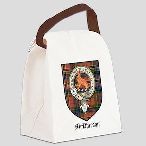 McPherson Clan Crest Tartan Canvas Lunch Bag