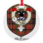 McTigue Clan Crest Tartan Round Ornament