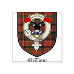 McTigue Clan Crest Tartan Square Sticker 3