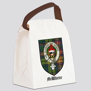 McWhirter Clan Crest Tartan Canvas Lunch Bag