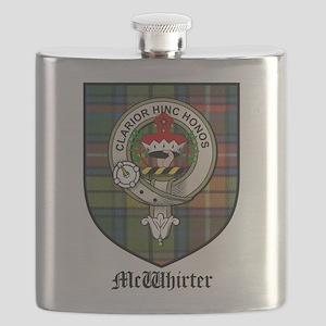 McWhirter Clan Crest Tartan Flask