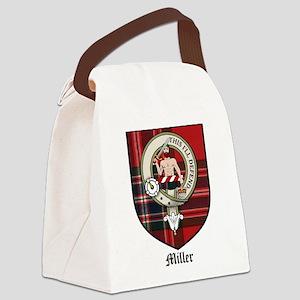 Miller Clan Crest Tartan Canvas Lunch Bag