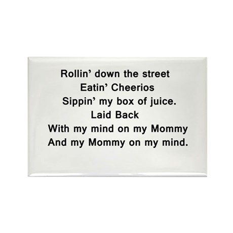 Mind on my Mommy Rectangle Magnet (10 pack)