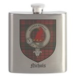 Nichols Clan Crest Tartan Flask