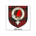 Nichols Clan Crest Tartan Square Sticker 3