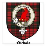 Nichols Clan Crest Tartan Square Car Magnet 3