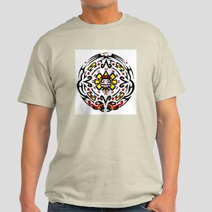 Tribal Mayan Calender Ash Grey T-Shirt