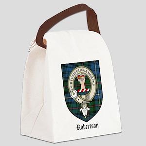 Robertson Clan Crest Tartan Canvas Lunch Bag