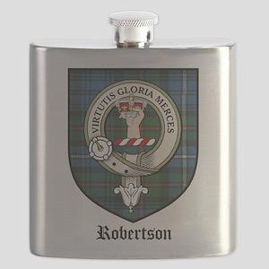 Robertson Clan Crest Tartan Flask