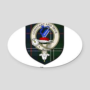 Rose Clan Crest Tartan Oval Car Magnet