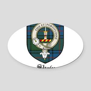 Shaw Clan Crest Tartan Oval Car Magnet