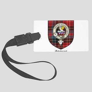 Stewart Clan Crest Tartan Large Luggage Tag