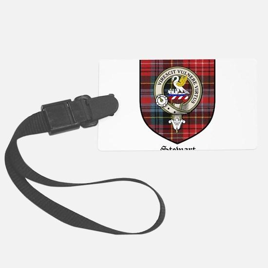 Stewart Clan Crest Tartan Luggage Tag