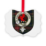 Stuart Clan Crest Tartan Picture Ornament