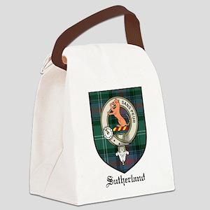 Sutherland Clan Crest Tartan Canvas Lunch Bag
