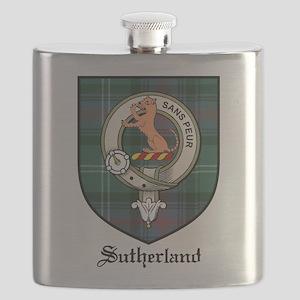 Sutherland Clan Crest Tartan Flask