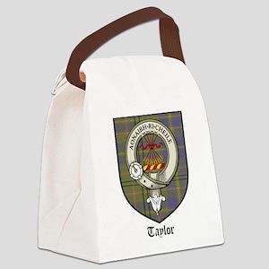 Taylor Clan Crest Tartan Canvas Lunch Bag