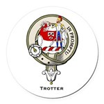 Trotter.jpg Round Car Magnet