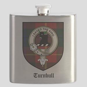 Turnbull Clan Crest Tartan Flask
