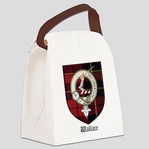 Wallace Clan Crest Tartan Canvas Lunch Bag