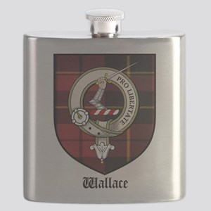 Wallace Clan Crest Tartan Flask