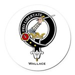 Wallace.jpg Round Car Magnet