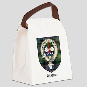 Watson Clan Crest Tartan Canvas Lunch Bag