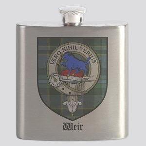 Weir Clan Crest Tartan Flask