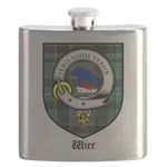 Wier Clan Crest Tartan Flask