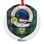 Wier Clan Crest Tartan Round Ornament