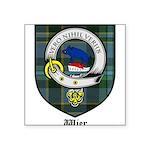 Wier Clan Crest Tartan Square Sticker 3