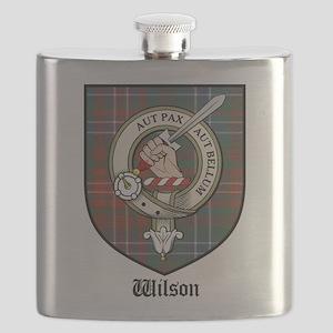 Wilson Clan Crest Tartan Flask