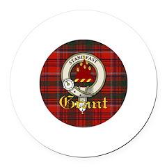 grant-clan.jpg Round Car Magnet
