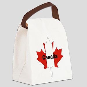 Canada-Leaf Canvas Lunch Bag