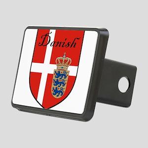 Danish Flag Crest Shield Rectangular Hitch Cover