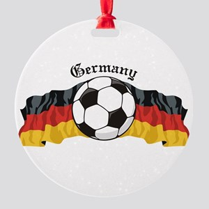 GermanySoccer Round Ornament