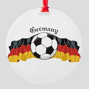 GermanySoccer Round Ornament