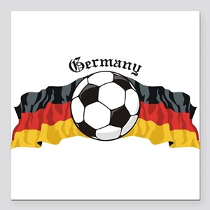 "GermanySoccer Square Car Magnet 3"" x 3"""