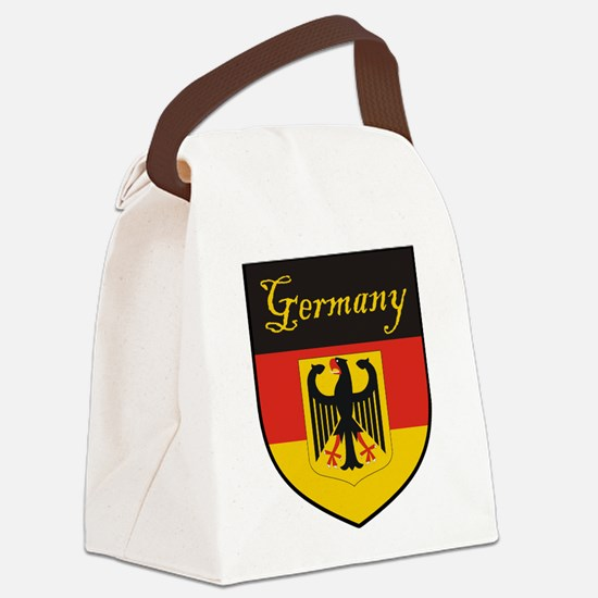 Germany Flag Crest Shield Canvas Lunch Bag