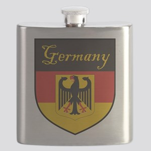 Germany Flag Crest Shield Flask
