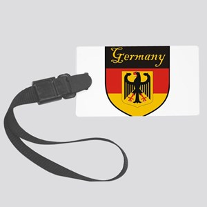 Germany Flag Crest Shield Large Luggage Tag