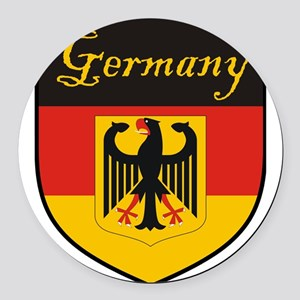 Germany Flag Crest Shield Round Car Magnet