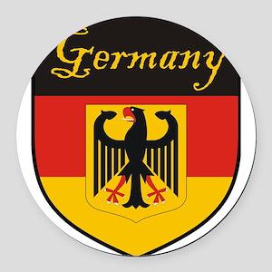 Germany Flag Crest Shield Round Car Magnet