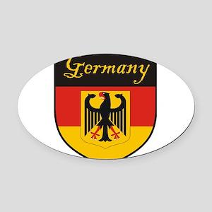 Germany Flag Crest Shield Oval Car Magnet