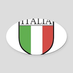 Italian Oval Car Magnet