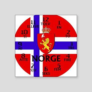 """norge Square Sticker 3"""" x 3"""""""
