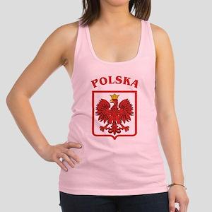 Polskaeagleshield Racerback Tank Top