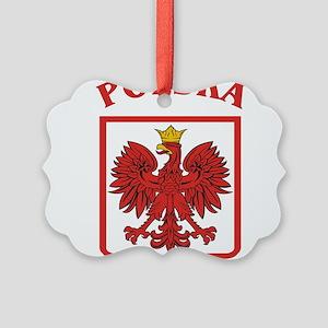 Polskaeagleshield Picture Ornament