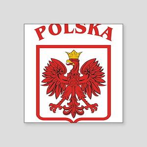 """Polskaeagleshield Square Sticker 3"""" x 3"""""""